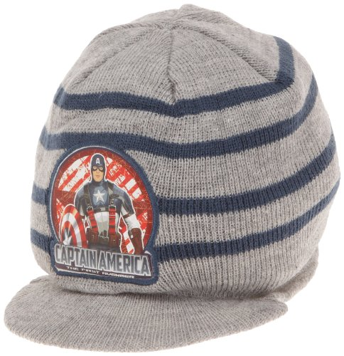Captain America Jungen Kopfbekleidung, Grau, 146 (Herstellergröße: (Captain America Hüte)
