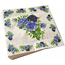 Meiosuns Servilletas de papel de flores Servilletas de papel Servilletas de té Servilletas de papel para