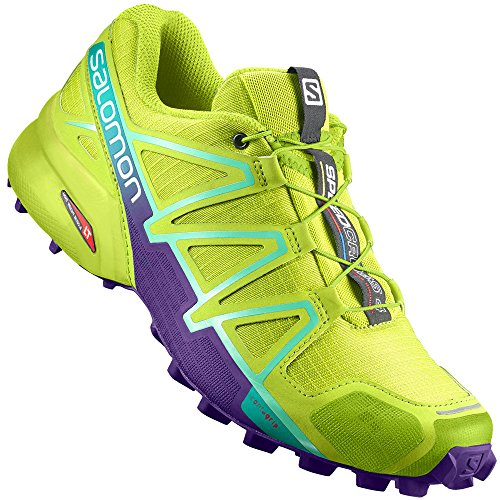 Salomon Damen Speedcross 4 W Trailrunning-Schuhe - Grün (Lime Punch./Biscay Green/Acai 700) , 36 EU