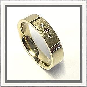 Bandring in 585 Gold mit Brillanten weiß & braun #57 (0,04 ct)