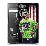 Head Case Designs Offizielle WWE John Cena Amerikanische Fahne Superstars Soft Gel Hülle für Sony Xperia Z5 Compact