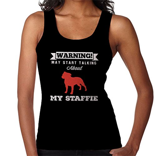 Coto7 Warning May Start Talking About My Staffie Women's Vest Black