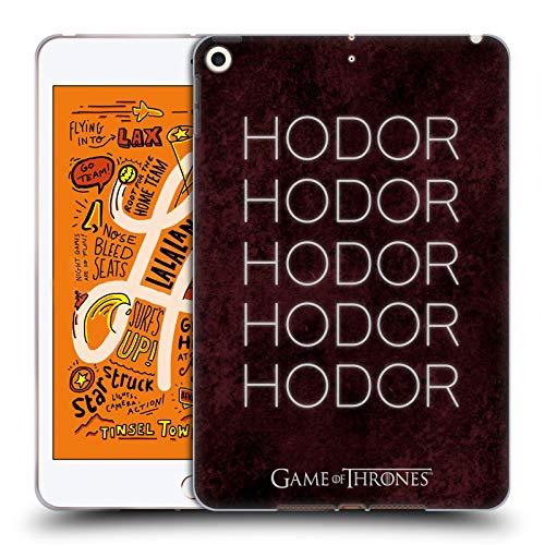 Soft-hold Gel (Head Case Designs Offizielle HBO Game of Thrones Hold The Door 1 Hodor Soft Gel Huelle kompatibel mit iPad Mini (2019))