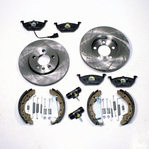 Bremsscheiben/Bremsen + Bremsbacken Set + Zubehör vorne + hinten