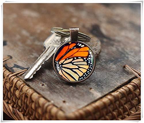 y Monarch Schmetterling Flügel Schlüsselanhänger, Schmetterling Schlüsselanhänger, Foto Glas Kuppel Schlüsselanhänger, Natur Schlüsselanhänger ()