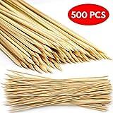 MATANA 500 Mini Bambus Holzspieße 15cm - Naturholzspieße aus 100% Bambus - Nein Splittern, Sicher, Zuverlässig & Langlebig - Perfekt für Schaschlikspieße Kebabs, BBQs/Grillspieße, Partys, Grillfeste.