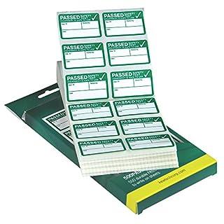 Kewtech 500PASS PAT Testing Labels, Green, No No Size