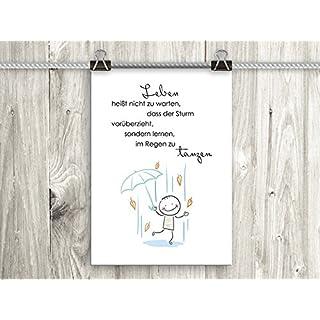 artissimo, Poster mit Spruch, Din A4, PE0017-DR, Leben heißt nicht zu warten..., Bild mit Spruch, Spruchbild, Wandbild, Plakat, Kunstdruck, Zitat, Sprüche, Wanddekoration