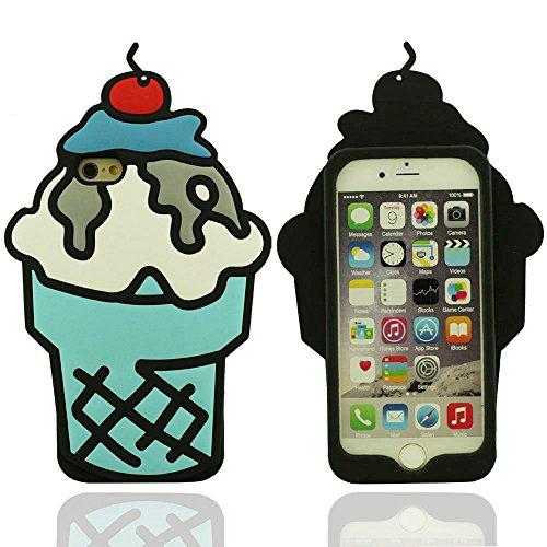 Crème glacée Forme Apparence Conception Beau Silicone Gel Mode Coque de Protection pour iPhone 7 4.7 Pouce, étui de Protection Anti choc, iPhone 7 Case Bleu