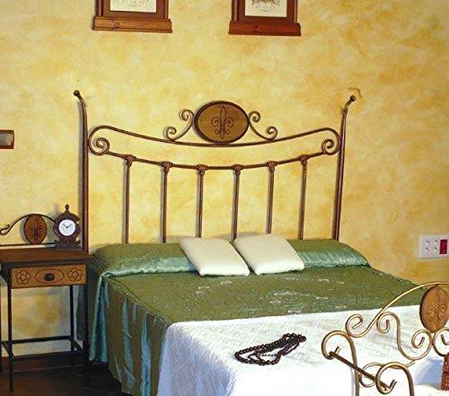 HOGARES CON ESTILO - Cabecero descuento del 50%. De forja nacional modelo Grecia, color Chocolate para cama de 135 cms, (Varios colores y medidas disponibles).