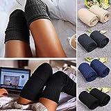 Voiks Calcetines de Mujer Sobre la Rodilla Calcetines de Algodón Larga