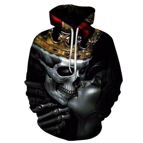 Nueva moda hombres/mujeres 3d sudaderas calaveras de metal kiss Imprimir mujeres sudaderas con capucha sudaderas 3d delgada Hoody Hip hop Tops,WEIYI-228,L