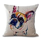 PENVEAT quadratisch 45,7cm Französische Bulldogge Bedruckt Dekorativer Sofaüberwurf Kissen Kissen Pets Hunde Outdoor Living Room Decor, 4, Einheitsgröße