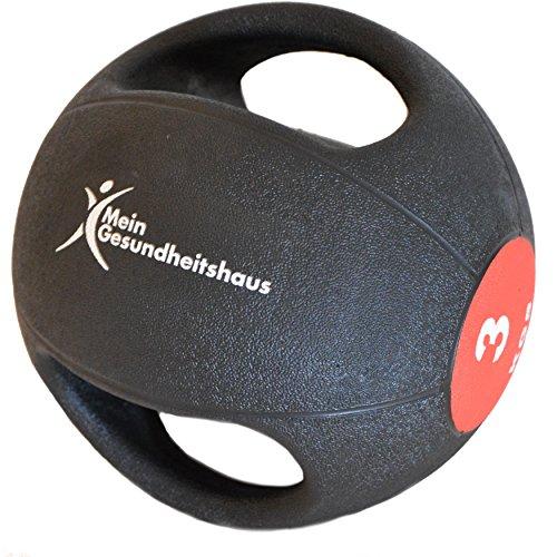 #Medizinball mit 2 Griffen 3kg#