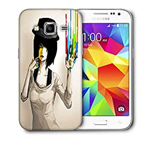 Snoogg Painted Girls Printed Protective Phone Back Case Cover For Samsung Galaxy Core Plus G3500