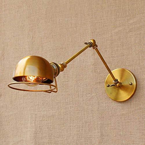 ZHANG NAN ● * American Gold Langarm Mechanische Arm Wandleuchte Einstellbar Schwenkarm Metall Wandleuchte Kreativität Gang Kopfteil Küche Restaurant Scheune Wandleuchte Innenbeleuchtung ● -