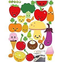 Pegatinas de Pared extraíble de Dibujos Animados de Frutas y Verduras Pegatinas de Pared de Vinilo