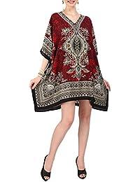 Miss Lavish London Mujer Kaftan Túnico Kimono Estilo Más tamaño Vestido para  Loungewear Vacaciones Ropa de 9fe943888e3d