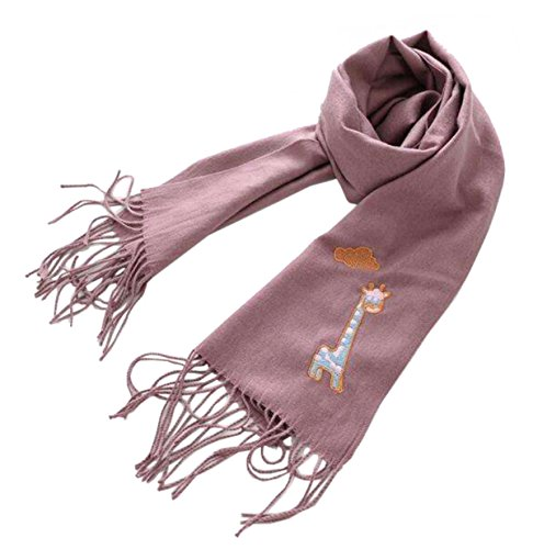 Tokkids - Sciarpe del cotone invernale per bambini e bambine (Viola)