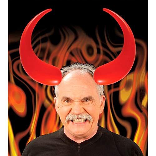 PICCOLI MONELLI Teufelshörner mit großen aufblasbaren Kreisen für Karneval oder Halloween