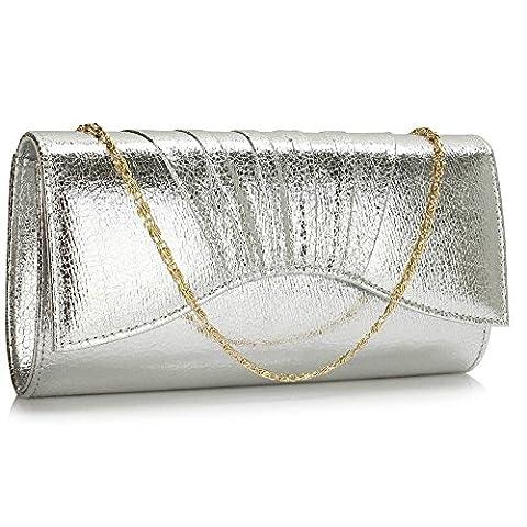 Womens Clutch Purse Ladies Metallic Evening Prom Party Evening Clutch Handbags
