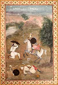 ISLAMIC ART India , Mughal 17th-18th century , A Battle Scene * 250gsm ART CARD Gloss A3 Reproduction Poster
