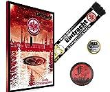 """'Eintracht Frankfurt Calendario dell' Avvento + GRATIS sciarpa + di 125anni di foresta Station + Sticker Frankfurt Forever """""""