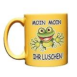 Kaffeetasse: Moin Moin Ihr Luschen | Beidseitig Bunt Bedruckt | Kaffeebecher groß mit Spruch & mit Motiv | Moin Ihr Luschen