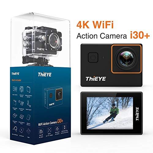 BUG-L Sport Kamera, 4K 60M Tiefe Wasserdichte WiFi Ultra HD Kamera 12MP, 170 Grad Weitwinkel 2,0 Zoll Anzeige, UnterstüTzung 64G SD Card
