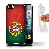 Stuff4 Coque Gel TPU de Coque pour Apple iPhone 5/5S / Portugal/Portugais...