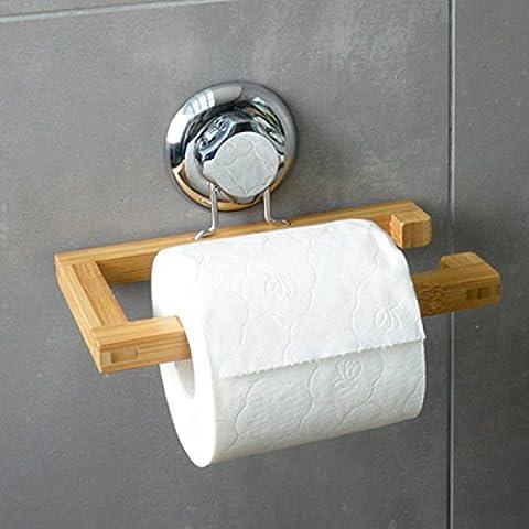 SNHWARE Durable New Badezimmer Bamboo Paper Handtuchwärmer Super Sucker Punch Klassisches Design (Boden Montiert Handtuchwärmer)