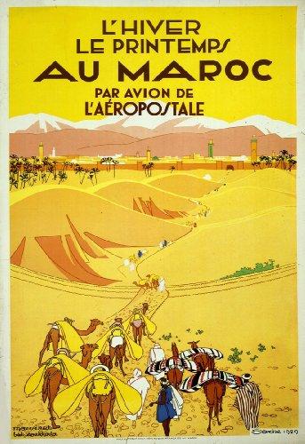 vintage-aviation-voyage-maroc-bulletinde-lhiver-le-printemps-au-maroc-par-avion-aeropostale-c1929-bu