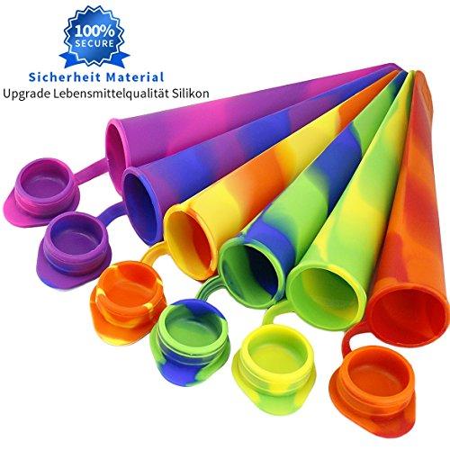 Joyoldelf 6 Stück Kitchen Silikon Eis am Stiel Eislutscher Formen,Ice Pop Maker Formen Set - 100% Lebensmittel Silikon- BPA frei