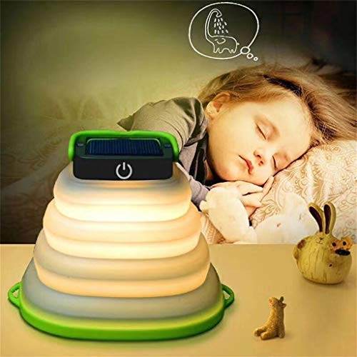 Tianya | Einziehbares Solarlicht | Geführte Kampierende Laterne Beleuchtet den Akku, der Durch Sonnenkollektor und USB Angetrieben Wird | Schwarz