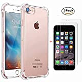 Coque iPhone 6S Plus/iPhone 6 Plus Transparente + Verre trempé écran Protecteur,...