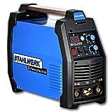 STAHLWERK DC WIG 200 Puls S - Kombi WIG Schweißgerät mit MMA E-Hand, 200 Ampere, 5 Jahre Herstellergarantie, Schweißen von Stahl, Edelstahl uvm, blau
