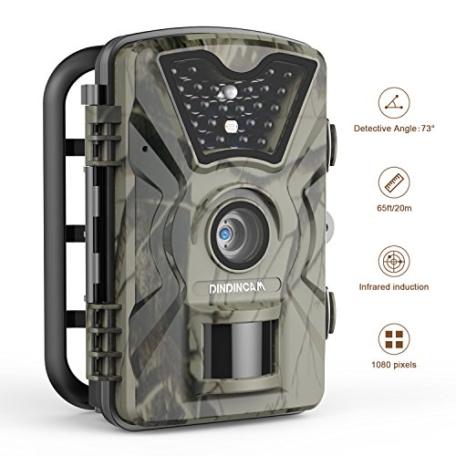 """Trail Camera 12MP 1080P Full HD Waterproof Wildlife Game Camera 65ft Infrared Night Vision Deer Hunting Camera with 2.4"""" LCD Display for Wildlife Monitoring Surveillance, Home Garden Security"""