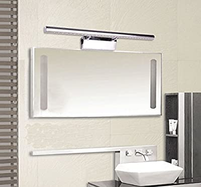 GreenSun SMD 5050 LED Mirror Front Light Lamp Bathroom Wall Lights with Waterproof Switch Stainless Steel Adjustable Angle - cheap UK light store.