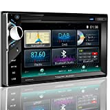 Tristan Auron BT2D7013C Autoradio mit Navi, 6,5'' Touchscreen Bildschirm, WebLink, Bluetooth Freisprecheinrichtung, 2X USB/SD, CD/DVD, DAB+ Lenkradsteuerung Rückfahrkamera Auto Radio 2 DIN