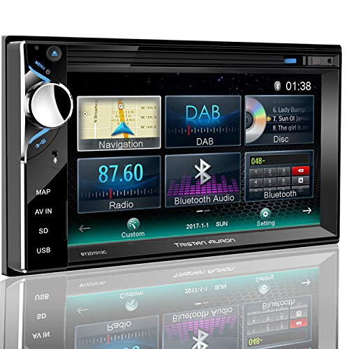 Tristan Auron BT2D7013A Autoradio | 6,5'' Touchscreen | Navi Europa | Freisprechfunktion| USB/SD-Slot | CD/DVD | 2 DIN | DAB+