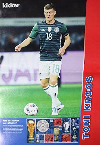 1x Einzelposter Toni Kroos Star-Poster Deutsche Fußball-Nationalmannschaft EM WM Weltmeister Nationalspieler Stars Helden Deutschland Germany Fan Foto DFB Team (06. Toni Kroos)