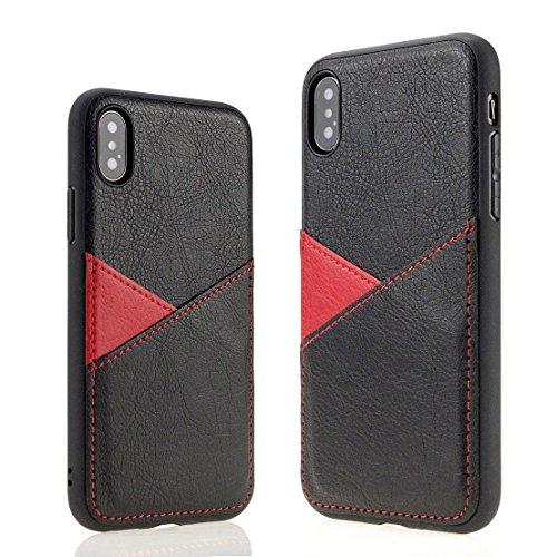 【 caserbay 】 Kompatibel mit iPhone-Luxus Minimalistische Card Wallet Schutzhülle Premium Kunstleder Slim Cover mit 2Card/Cash Halter Slots, for iPhone 8 / iPhone 7 (4.7