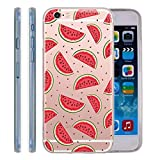 Wassermelone iPhone 6 6S Fall – Fruit Muster Transparent Ultra Dünn TPU Gel iPhone 6S 6 Cover Skin 11,9 cm