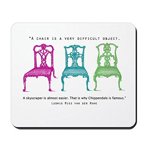 CafePress-Mies Van Der Rohe/chip-chairs-rutschfeste Gummi Mauspad, Gaming Maus Pad