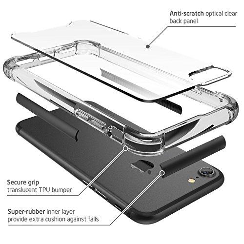 iPhone 7 Hülle, iPhone 8 Hülle, i-Blason Shockproof Schutzhülle Back Cover Transparente Handyhülle Case Schale für Apple iPhone 7 / iPhone 8, Weiß schwarz