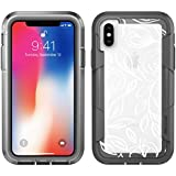 iPhone X Case   Pelican Voyager iPhone X Case (Clear Floral/Grey)