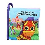 Nlatas Babytuchbuch Pony Spielzeug Tuchentwicklungsbücher Lernunterrichtsbücher Geeignet für Babys über 6 Monate