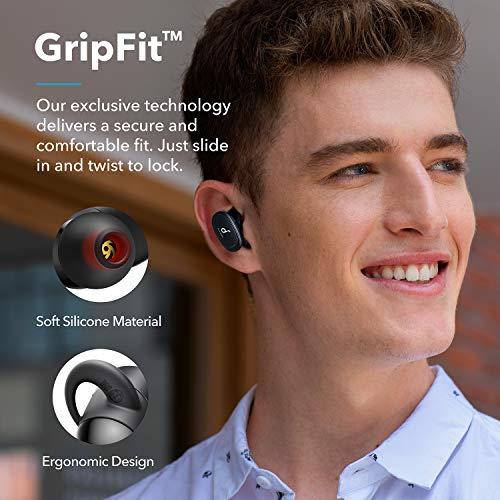 Anker Soundcore Liberty 2 True Wireless Kopfhörer, Bluetooth Kopfhörer mit Diamanten-Audiotreiber, 32 Stunden Akkulaufzeit, personalisierter HearID Sound, Bluetooth 5, fester Halt, 4 Mikrofone