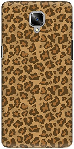 The Racoon Lean printed designer hard back mobile phone case cover for Oneplus 3T. (Leopard Pr)