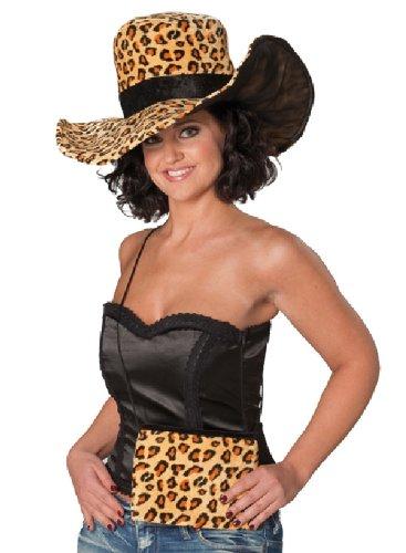 Damen Hut Leopard Karneval Zubehör zum Vamp Kostüm an Fasching